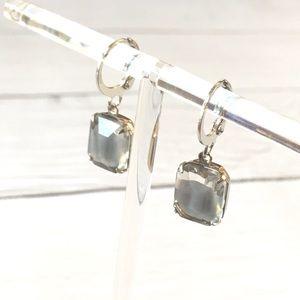 Vintage Givré Moonstone Crystal earrings. FIRM